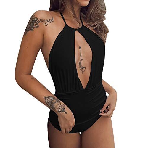 Costumi da Bagno Interi Donna Push Up Aperto VJGOAL Modellante Imbottitura Costume da Bagno Donna Vita Alta Jeans Costumi Interi Donna Brasiliana Sexy di Marca Micro Bikini Donna Mare Intero Estive
