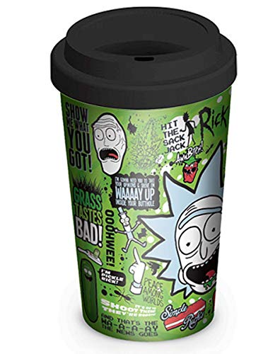 Close Up Rick and Morty Travel Mug Quotes, Reisebecher, Kaffeebecher to go