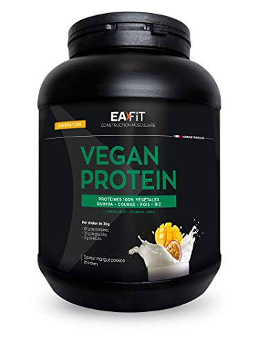 Vegan Protein Mango Fruta de la Pasión 750g- Ganancia de músculo 100% vegetal