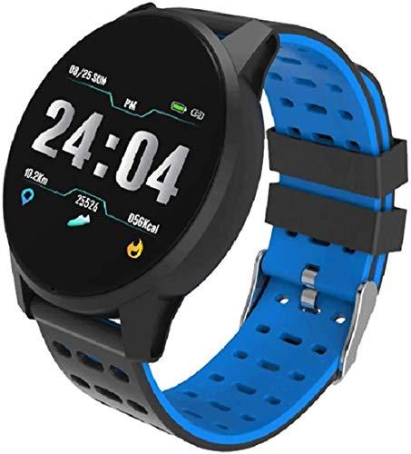 Correa de reloj deportivo con gancho y cierre de lazo ajustable para la muñeca de carga, reloj inteligente para mujer, hombre, color gris, azul