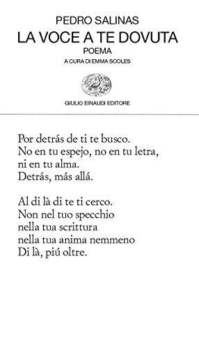 La voce a te dovuta: Poema (Collezione di poesia Vol. 155)