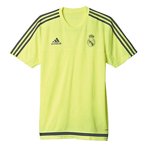 adidas Real TRG Jersey Camiseta de Entrenamiento, Hombre, Amarillo/Gris (Amasol/Esmuin), S