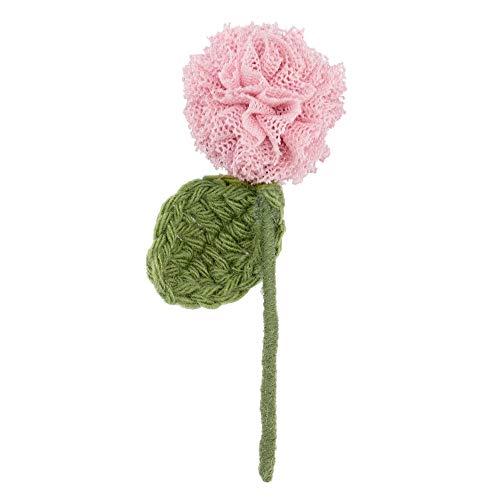 JOE COOL Broche de una sola flor de tallo hecho con acrílico y aleación de estaño