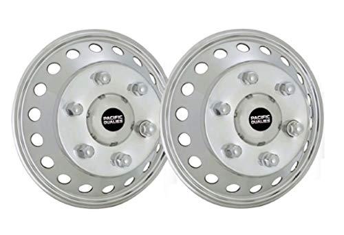 Pacific Dualies 44-2608A 44–2608A 43,2 cm (17 Zoll), polierter Edelstahl, Radsimulator, Vorderachse für Dodge,...