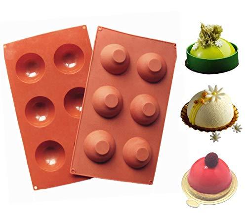 SACALA 2 Set Backformen Set Silikonform für Kuchendekoration Pudding Candy Chocolate 6
