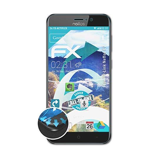 atFolix Schutzfolie kompatibel mit TP-Link Neffos C7 Folie, ultraklare & Flexible FX Bildschirmschutzfolie (3X)