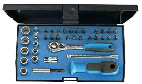 """GEDORE D 20 KMU-20 Steckschlüsselsatz 1/4"""" – 37-tlg. Steckschlüssel- und Bitsatz mit Umschaltknarre, 1/4""""-Bits & Steckschlüsseleinsätze inkl. weiterem Zubehör"""