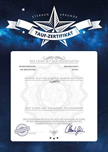 Sternentaufe - Echten Stern Taufen - Sternregister - Stern Benennen - Zertifikat - Geschenkpaket Silber - Romantisch Blau