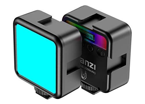 Ulanzi VL49 - Lámpara LED de vídeo para smartphone y cámara (RGB + 2500 K-9000 K) y batería de 2000 mAh para vídeo Vlog Studio Streaming