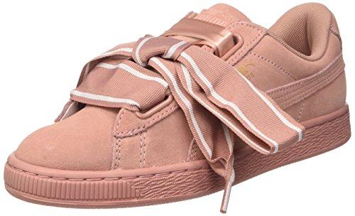 PUMA Damen Suede Heart Satin II W 364084-03 Sneaker, Braun (Cameo Brown-Cameo Brown), 40 EU