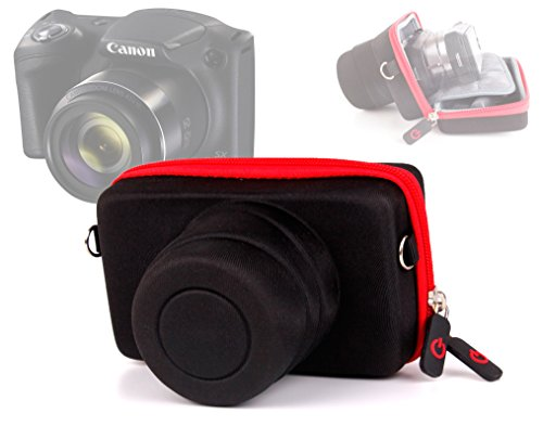 DURAGADGET Custodia Per Canon Powershot G9X | SX710 HS | SX610 HS / EOS M2 | M - Interno Morbido - Fascia Per Cintura - Alta Qualità