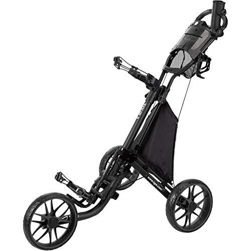 TGW Tour 3-Wheel Golf Push Cart Dark Grey/Black