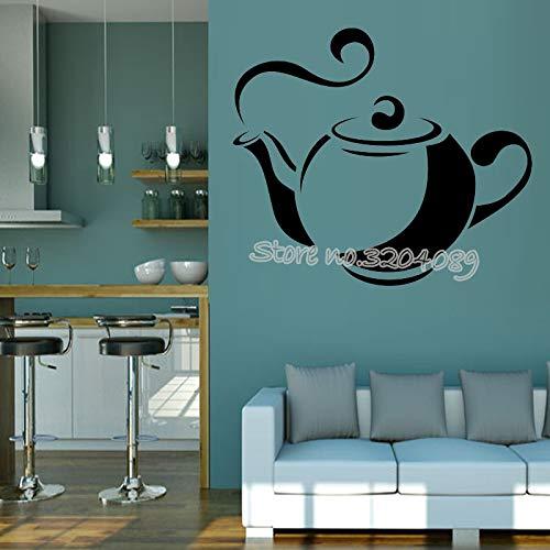 yaonuli Stomen theepot muur sticker woonkamer keuken cafe restaurant wanddecoratie vinyl verwijderbare huisdecoratie behang muurschildering