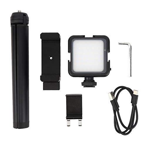 Soporte telefónico para FIMI Palm Handheld Ballhead Camera con LED Light 6000K Desktop Trípode Phone Clip Set