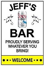 Customize for any name.Pabst Beer This Flexible Magnet is Available for Quick Shipping. 3 Sizes Matts Bar Funny Refrigerator Magnet.Proudly Serving Whatever You Bring
