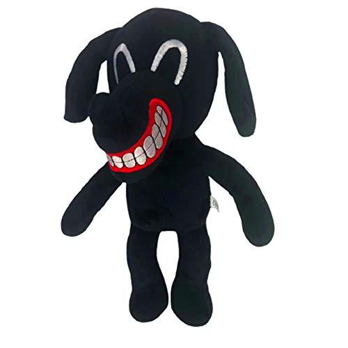Muñeco de Peluche de Gato de Cartoon Cat, 12 Pulgadas Monstruo de Terror Cartoon Dog Juguetes de Peluche Muñeco de Peluche Suave Regalo de Cumpleaños de Halloween para Niños y Niñas