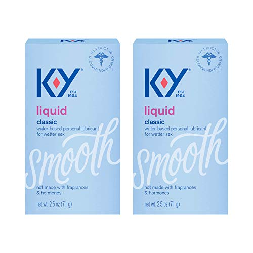 K-Y Liquid Personal Lubricant Natural Feeling Liquid, 2.5 Ounce, 2 Count