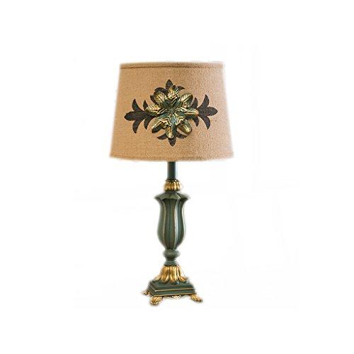 Grüne Harz geschnitzte Tischlampe für Schlafzimmer (Farbe : 1)