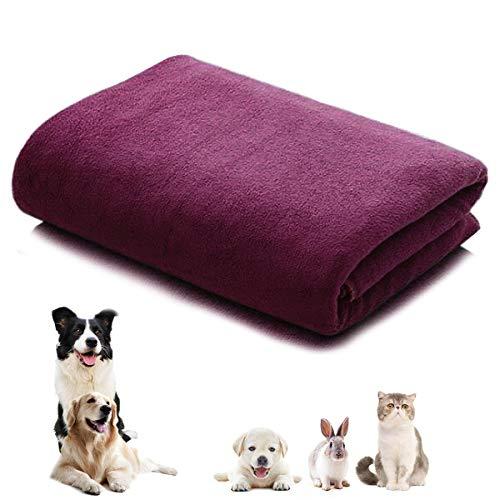 CattleyaHQ 160 * 60cm Toalla para perro de 1 pieza, Toallas de secado rápido de microfibra suave y absorbente, Toallas grandes de secado para perros, gatos y mascotas