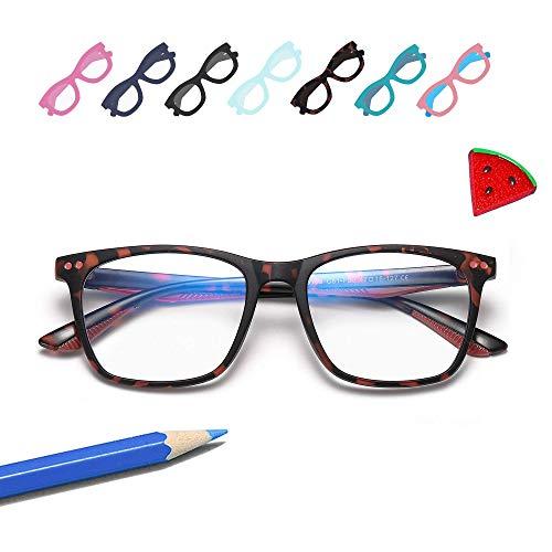 Penbea Kids Blue Light Blocking Glasses - Blue Light Glasses for Kids Girls Boys Age 7-12, Fake Glasses Anti Bluelight Glasses for Kids - Turquoise