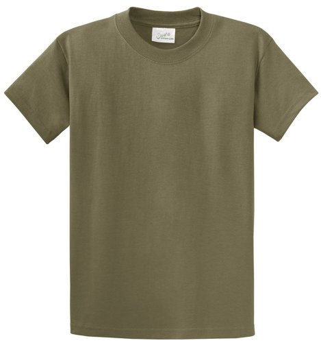 Mens Tall Heavyweight 6.1-ounce, 100% cotton T-Shirts-XL Olive