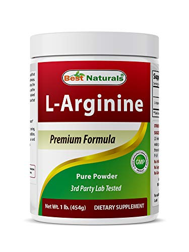 Best Naturals L-Arginine Powder 1 Pound - Pure Pharmaceutical Grade Free Form - Best Amino Acid Arginine Supplements for Women & Man - Promotes Circulation and Supports Cardiovascular Health