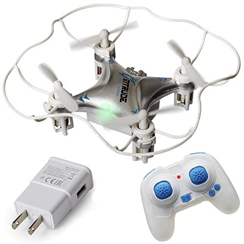 Price comparison product image Mini Quadcopter Drone + FREE Wall Charger - Beginner Flying RC Helicopter Drone for Kids and Adults - Small,  Rugged,  Easy-to-Use 6-Axis Gyro,  Advanced Stunt Controller