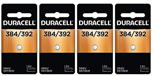 Duracell 384/392 - 2 pack - 4 packs - 8 total batteries