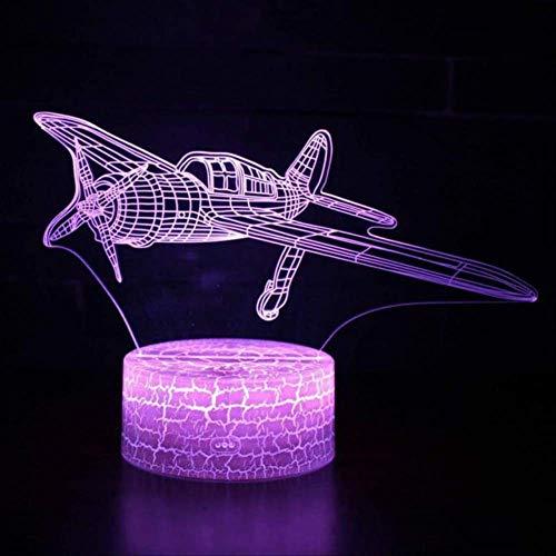 Boeing Air Plane 3D-nachtlampje, led-nachtlampje, 7 kleuren lamp, 3D visueel led-nachtlampje voor kinderen, touch-tafellamp, model vliegtuig, afstandsbediening in aanraking met 7 kleuren