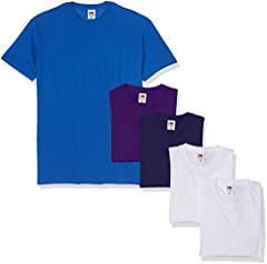 Fruit of the Loom Camiseta Hombre Valueweight, Pack de 5