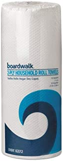 Boardwalk Paper Towel Rolls, Perforated, 2-Ply, White, 85 Sheets/Roll, 30/Carton