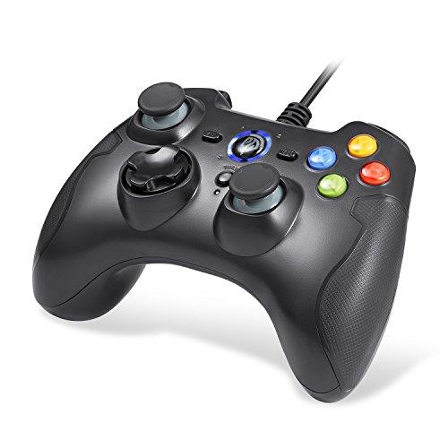 【ゲームコントローラー】EasySMX 有線PCコントローラー 連射・振動機能搭載 USBゲームパッド Windows/Andr...