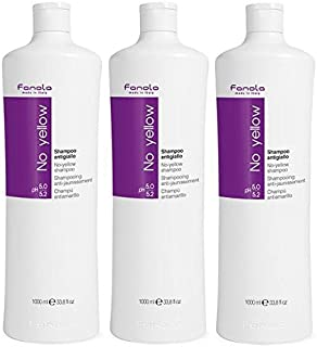 Fanola No Yellow Shampoo,33.8 Fl Oz,1000 ml (Pack of 3)