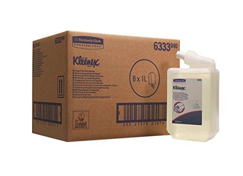 Kleenex Flüssig-Handseife, Für den täglichen Gebrauch, Transparent/Parfümfrei, 6 x 1 L Behälter, 6333