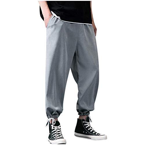 Pantaloni Bermuda Uomo Casual Sportivi Cargo con Elastico Chino Eleganti Trousers Trekking Militari Pants Pantaloni da Ginnastica da Uomo