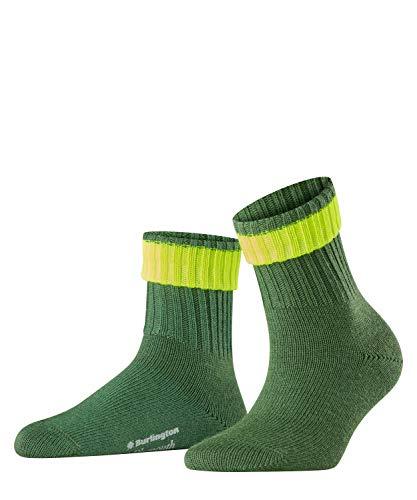 Burlington Damen Neon Plymouth W SO Socken, grün (palme 7391), Einheitsgröße (DE 36-41)