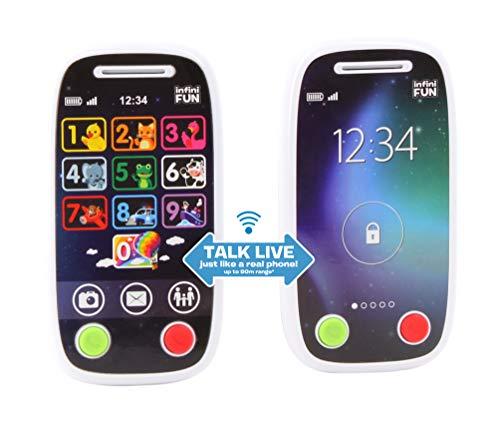 Infinifun 10418 Mein erstes Talkie-Telefon, Walkie-Talkie, Weiß