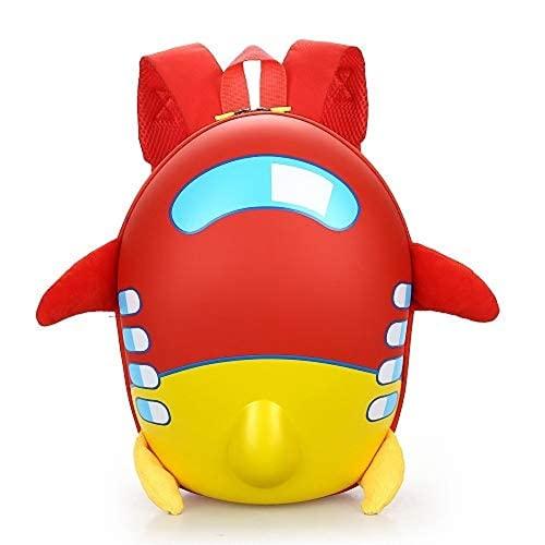 MINGPAI Mochila para niños de dibujos animados Mochila para niños de 2 a 8 años, mochila para niños y niñas (red,30×23×7cm)
