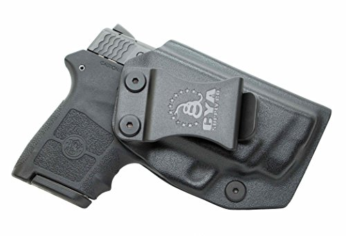CYA Supply Co. Fits S&W M&P Bodyguard 380 Crimson Trace Inside Waistband Holster Concealed Carry IWB Veteran Owned Company (Black, 043- S&W M&P Bodyguard Crimson Trace)
