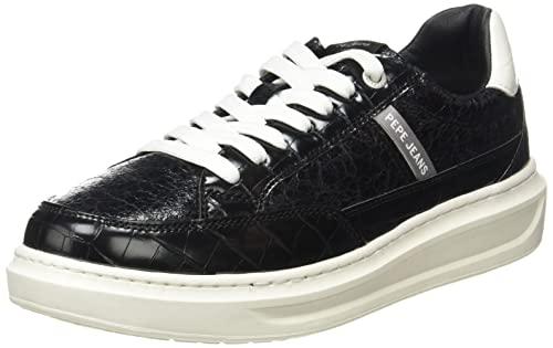 Pepe Jeans Abbey Esse - Zapatillas Deportivas para Mujer, (999black), 40 EU