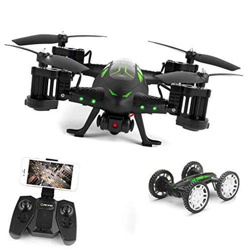 ZHCJH Izzya RC Flying Drone y Coche multifunción WiFi FPV RC Drone Air-Gronud Control de teléfono RC Quadcopter con cámara HD WiFi y luz