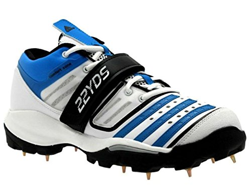 adidas Twenty2yds Mid IV Herren Cricket Schuhe Stiefel D67043 Weiß/Blau/Schwarz NEU & OVP Gr. 50 2/3