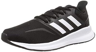 adidas Men's Runfalcon Sneakers, Black White Black, 9 UK