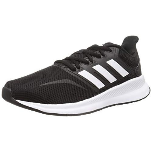 adidas Falcon, Scarpe da Corsa Uomo, Nero Core Black Ftwr White Core Black Core Black Ftwr White Core Black, 41 1/3 EU
