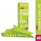 PEE BUDDY Urinal aus Pappe PIPI Trichter für Frauen, Pinkeln im Stehen, Urinierhilfe für Frauen Antibacterial 40 PIPI Trichter für Frauen