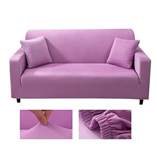 Solid color corner sofa covers for living room elastic spandex slipcovers couch cover stretch sofa towel L shape need buy 2piece (Color : 21, Specification : 1 seat sofa)