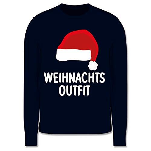 Shirtracer Weihnachten Kind - Weihnachtsoutfit mit Weihnachtsmütze - 104 (3/4 Jahre) - Navy Blau - Weihnachten - JH030K - Kinder Pullover
