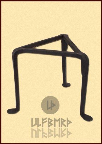 Ulfberth Einfaches Dreibein, Pfannenrost, handgeschmiedet Kochen auf dem Lagerfeuer