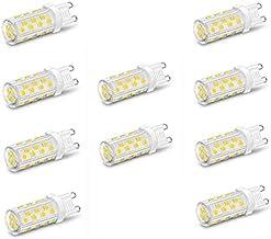 EMGQ Energiebesparende gloeilamp Halogeenlamp 10 stks nee flikkering 5W LED keramische lamp mini maïs G9 ac220v 240v diep ...