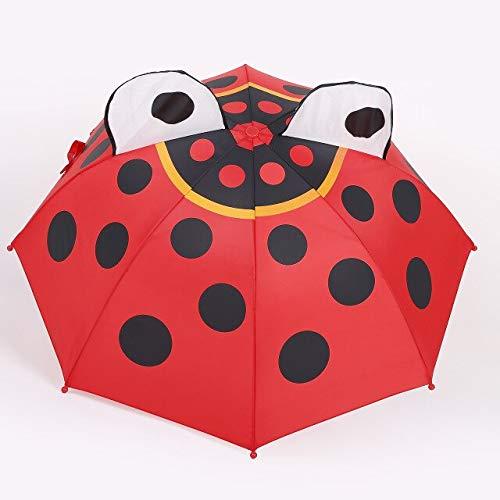 NJSDDB paraplu Cartoon Oren Stereoscopische Kids Paraplu Pikachu Konijn Kikker Aninmal Dual Purpose Zonnescherm Kinderen paraplu's meisjes Regenkleding, size 4